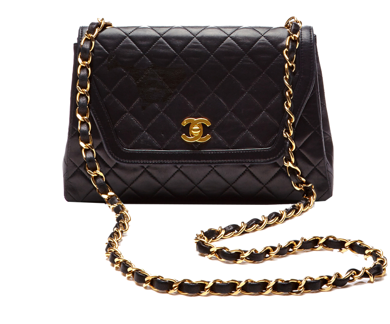 Chanel Black Quilted Lambskin Trapezoid Bag