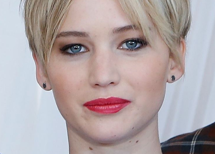 Jennifer Lawrence face close-up American Hustle photo call