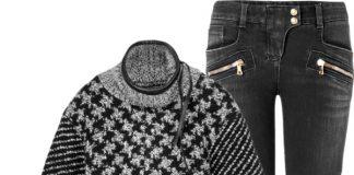 Rag Bone Ava sweater Balmain black biker jeans leather ankle boots Valentino studded tote bag