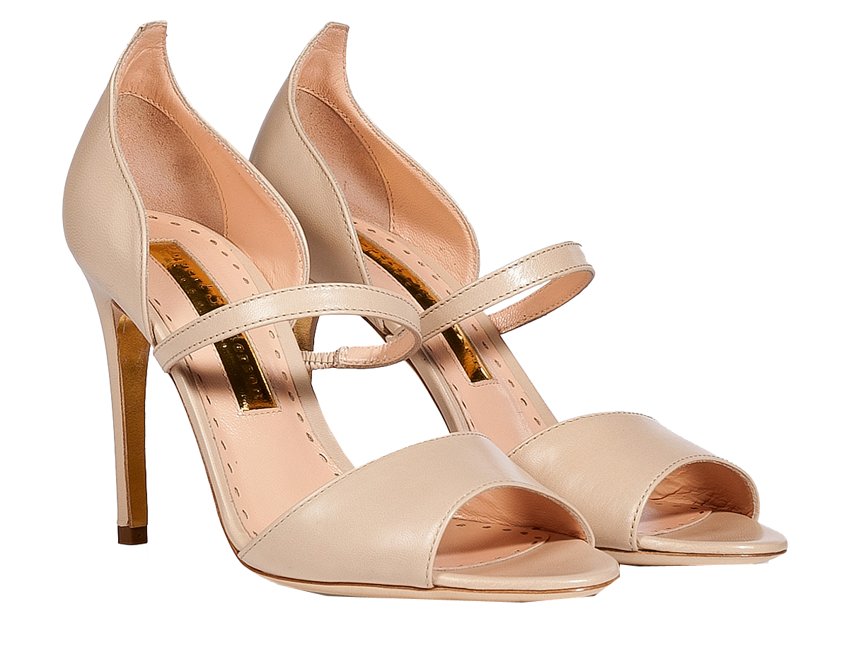 Rupert Sanderson nude Leather Ophelia Sandals