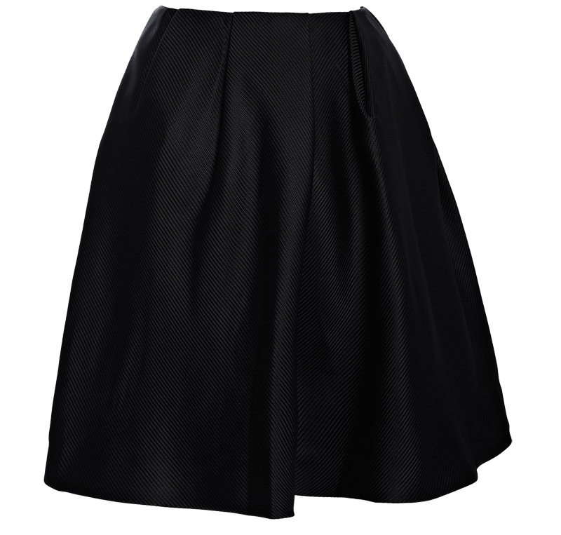 Thakoon Addition black Pleated-Waist Full Skirt