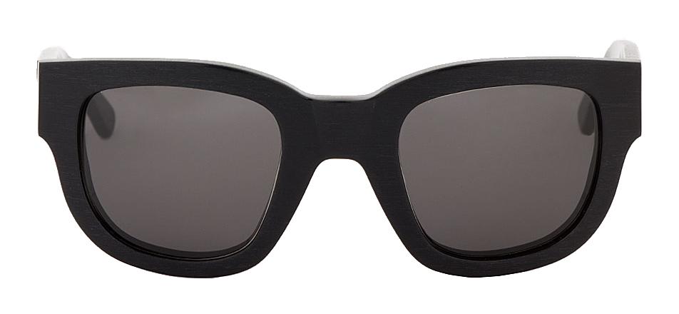 Acne Studios Black etched Frame Sunglasses