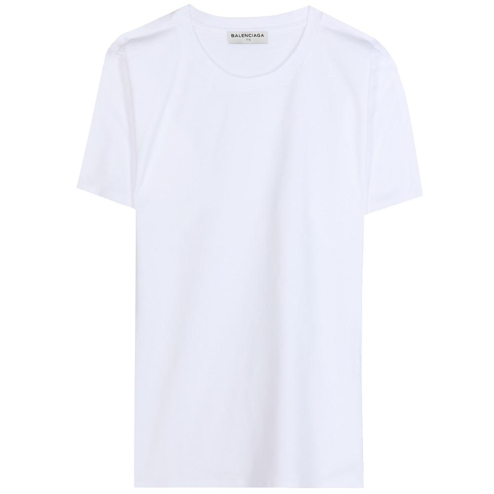 Balenciaga White Cotton Basic T Shirt My Fashion Wants