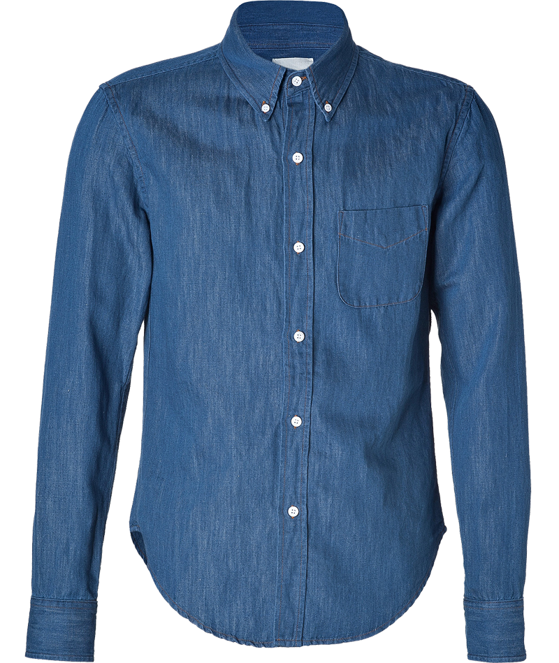 Find womens denim shirt at Macy's. Macy's Presents: The Edit- A curated mix of fashion and inspiration Check It Out. a light blue chambray shirt will look great with light wash jeans or pick complementary denim washes like a medium denim shirt worn with a dark blue jean skirt.