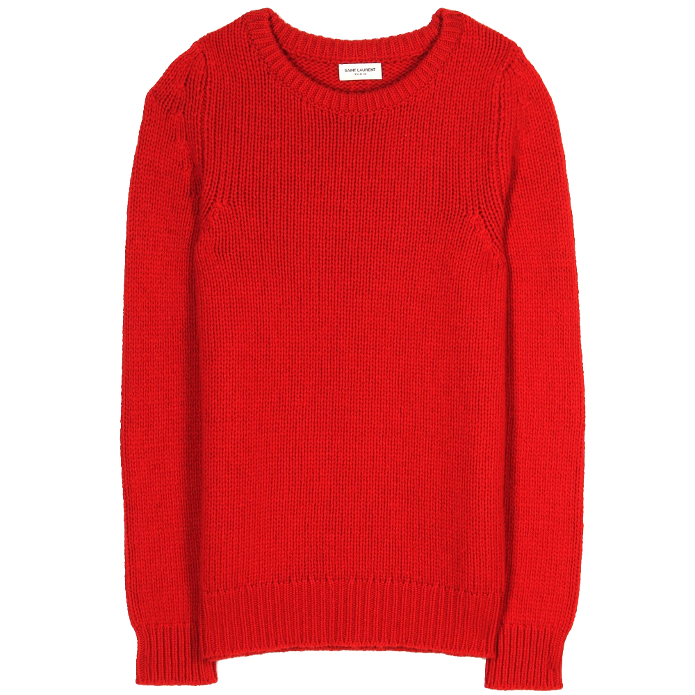 Saint Laurent Red Cashmere Knit Pullover Sweater My