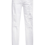 Current Elliot white The Stiletto Distressed Jeans