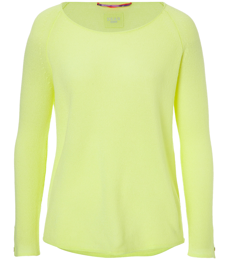 Dear Cashmere lemon-lime cashmere pullover sweater