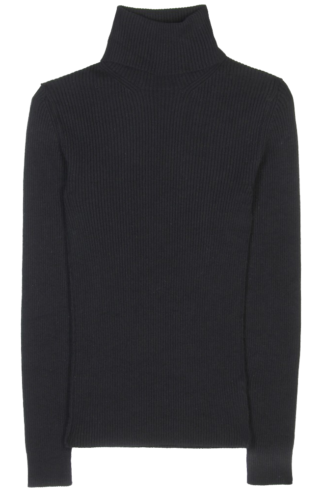 Dolce Gabbana black Ribbed-knit cashmere turtleneck sweate