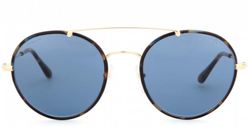 Prada navy lens Round-frame sunglasses