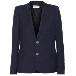 Saint Laurent Marine navy blue Single-breasted wool blazer