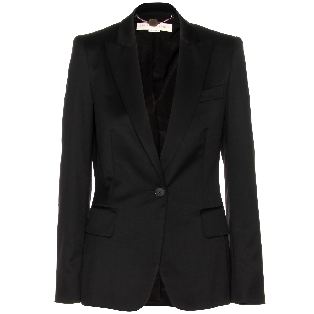 Stella McCartney black Iris wool-twill blazer