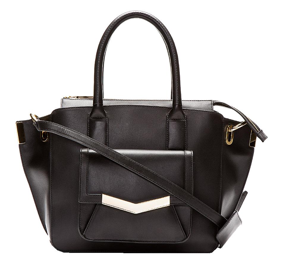 TIMES ARROW Black Leather Mini Jo Tote bag