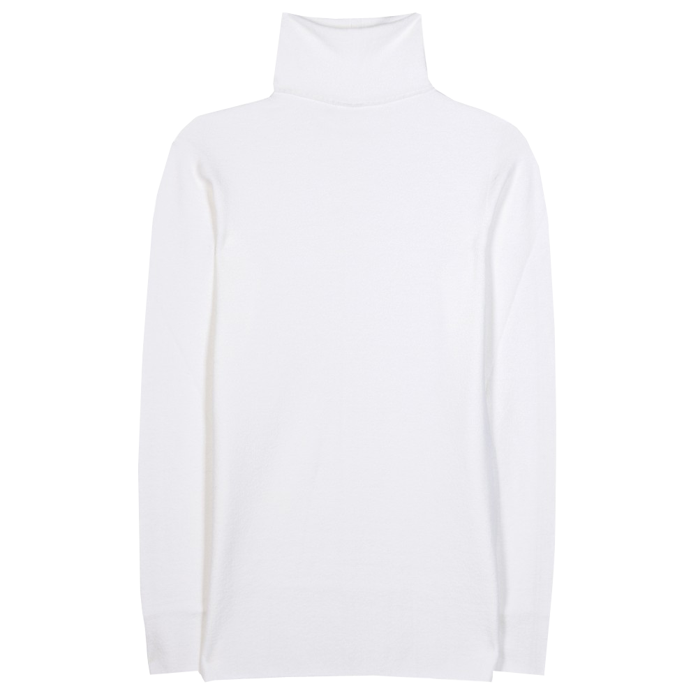 The Row Ruby merino white wool-blend turtleneck sweater