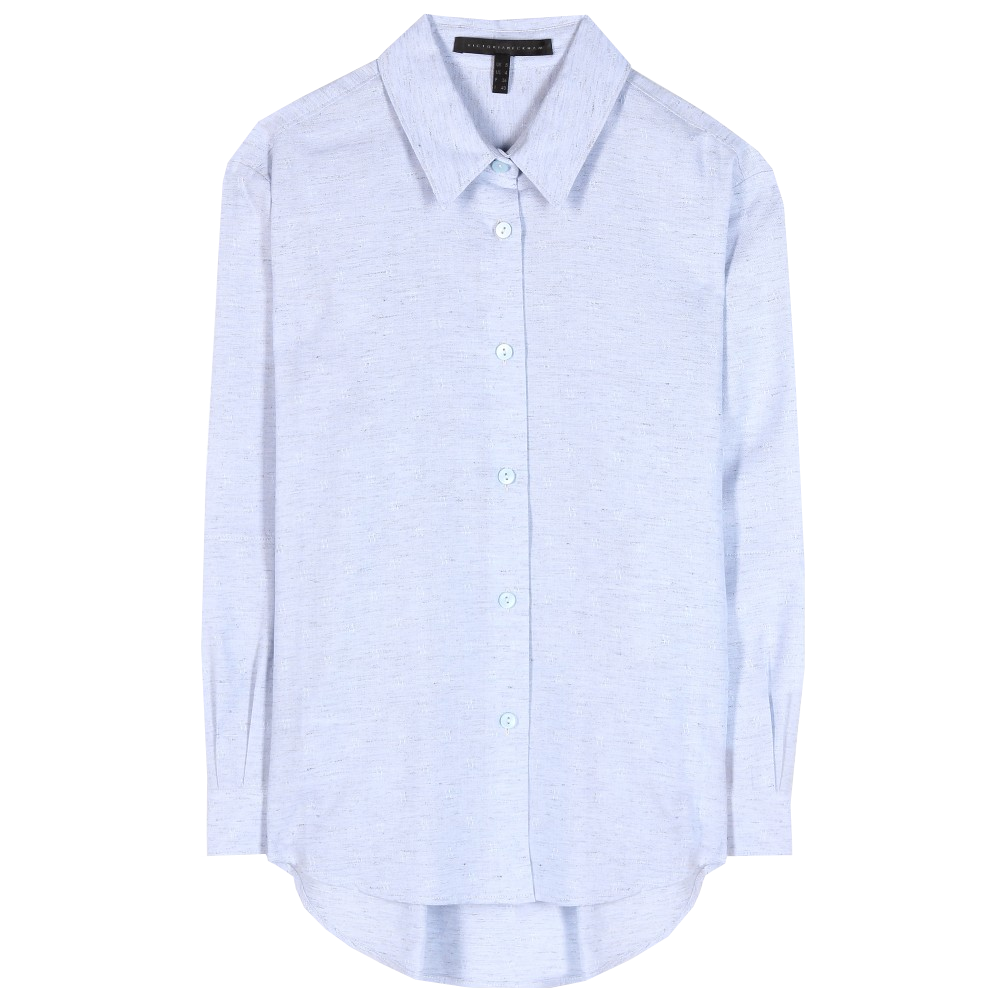 Victoria Beckham Denim rally blue basic cotton button down shirt