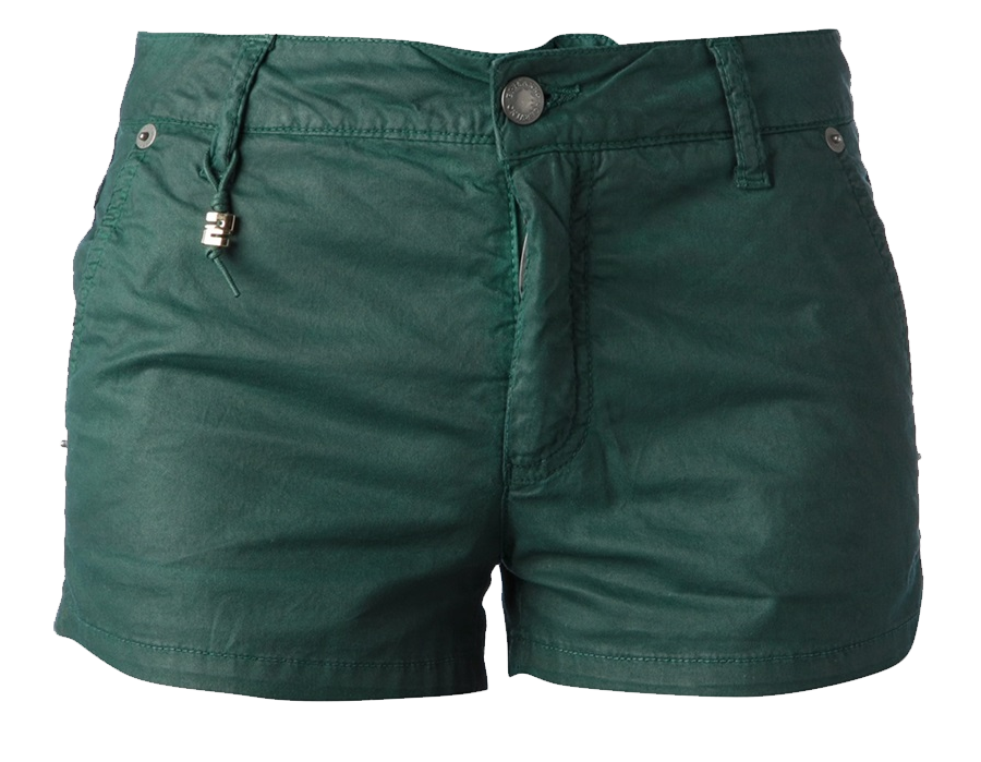 Green cotton-blend shorts from Ermanno Scervino