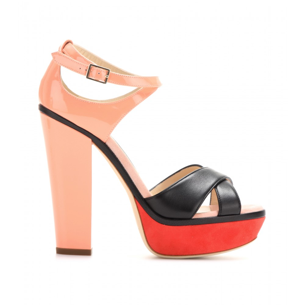 Jimmy Choo Tiber leather platform sandals