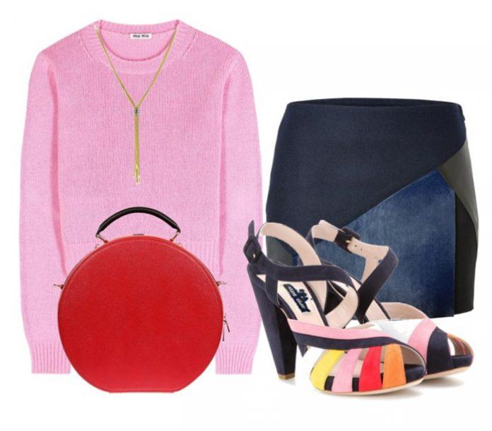 Miu Miu orange red pink white yellow navy blue suede sandals