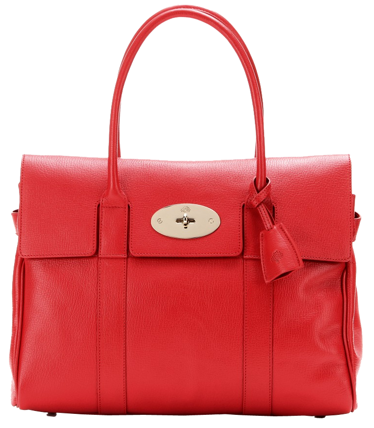 Mulberry red bayswater leather tote