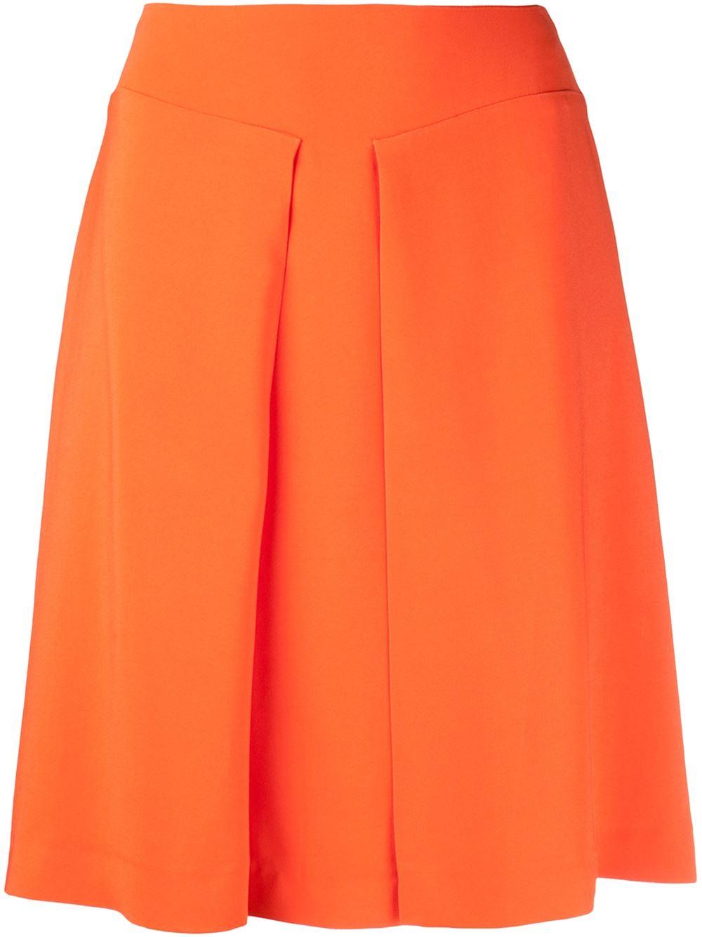 Orange a-line skirt from Rochas