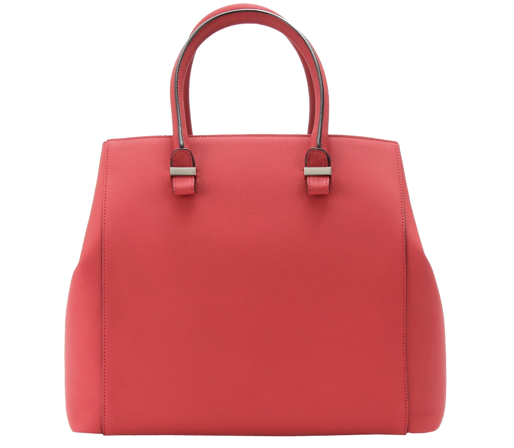 Red VICTORIA BECKHAM RED LIBERTY LEATHER SHOPPER