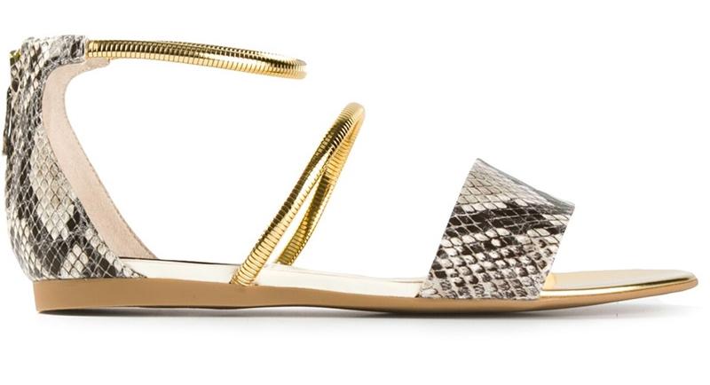 Stella McCartney metallic strap sandal