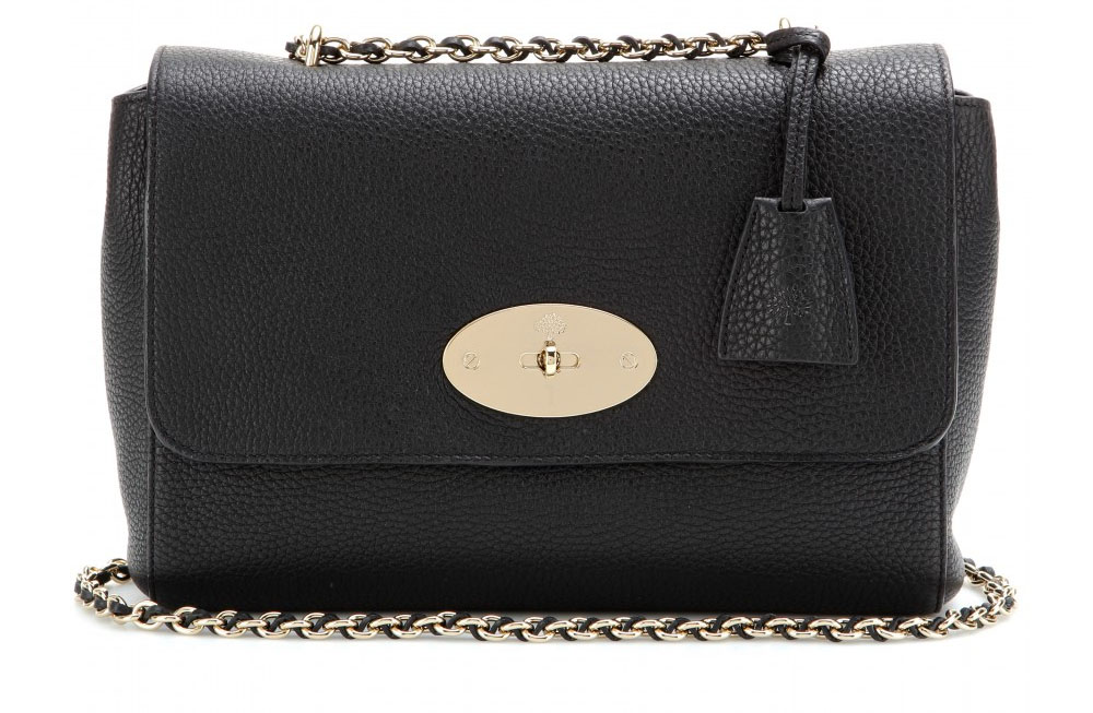 ... reduced mulberry lily medium black textured leather shoulder bag a905f  083d6 ... 581e24415f