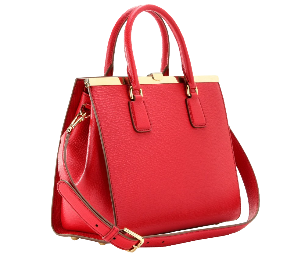 Dolce Gabbana red Eva textured-leather tote