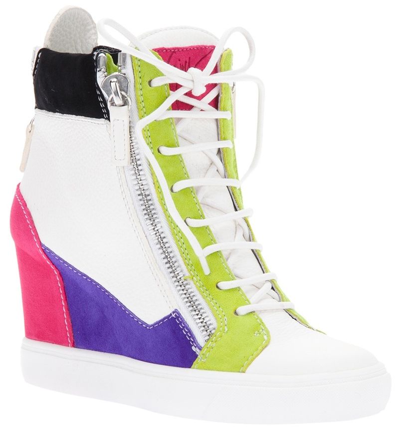 Giuseppe Zanotti Design colour block wedge sneakers