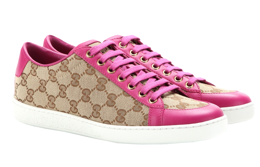 Gucci Brooklyn printed canvas and leather sneakers