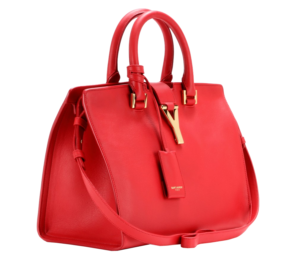 Saint Laurent red Petite Cabas Classique Y leather tote