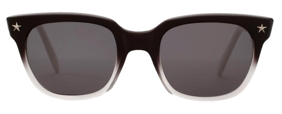 Sheriff and Cherry Acetate WayFarer Sunglasses metal star anchor template black silver metallic