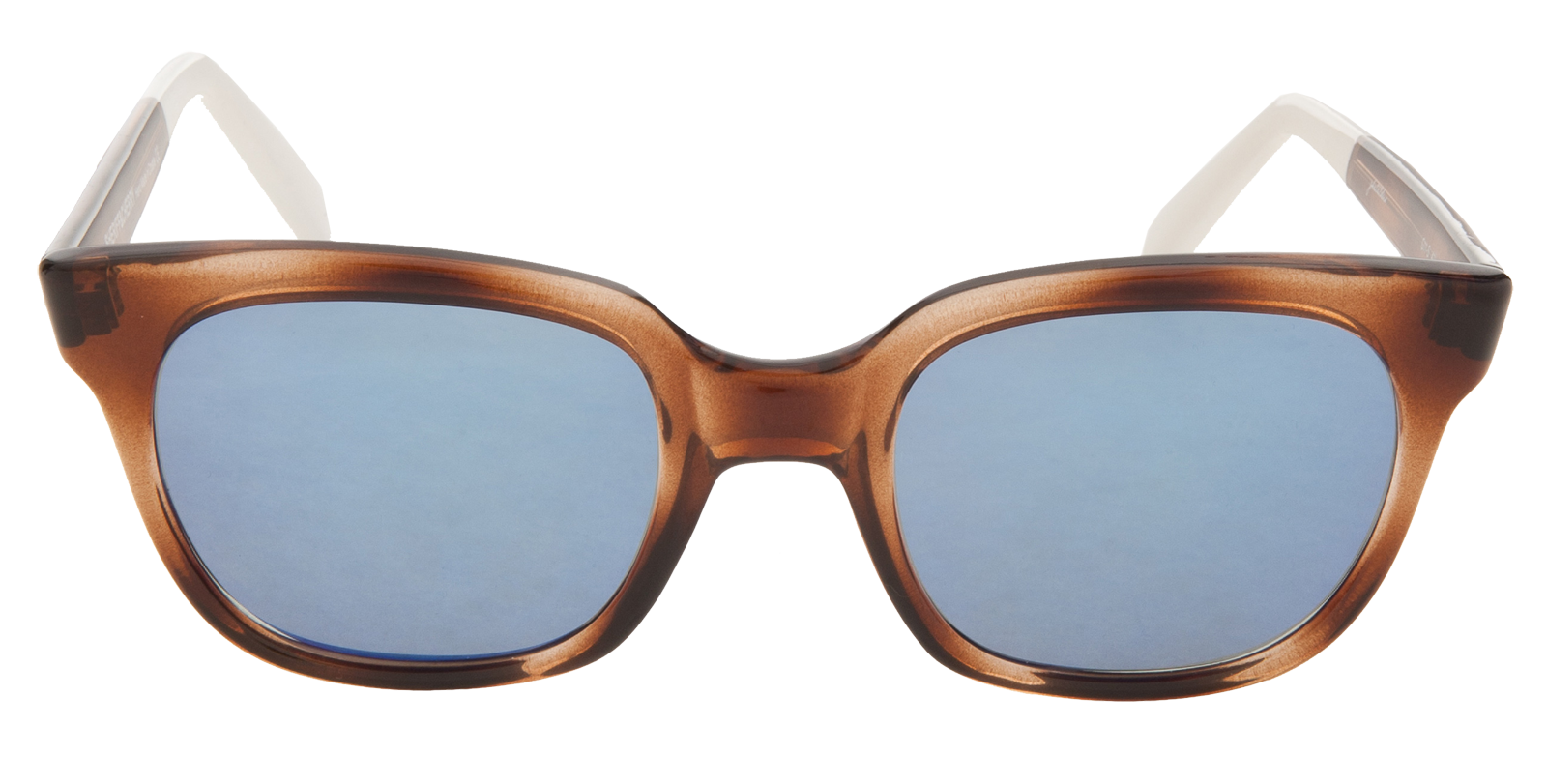 Sheriff and Cherry Turtle Cut Sunglasses blue lenses