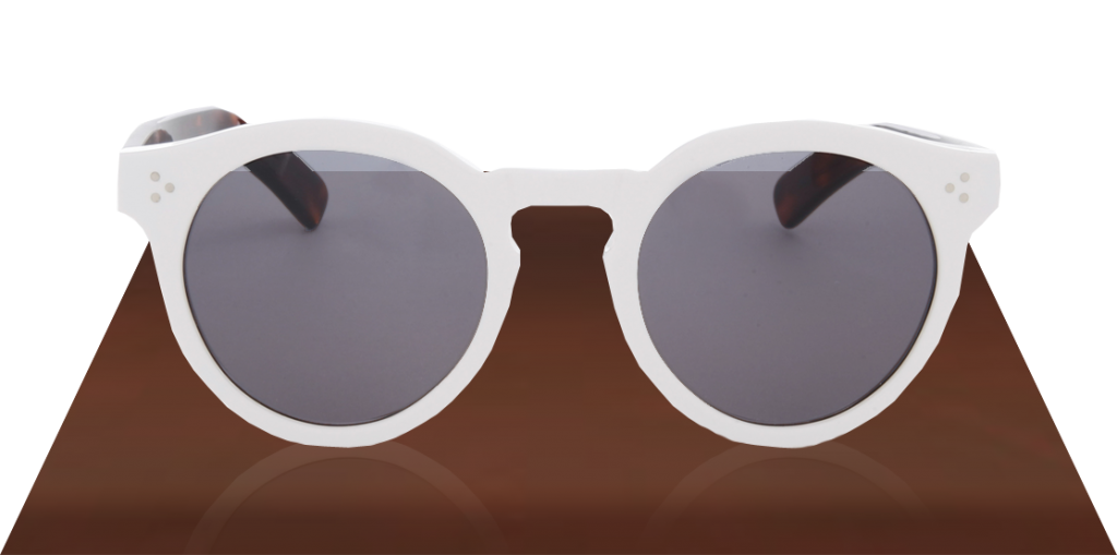 illesteva Leonard II White Brown Sunglasses
