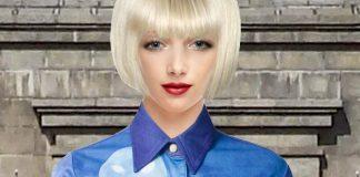 Clothing model wearing Walter Van Beirendonck Vintage print skirt DSQUARED2 Multicoloured silk mask print skirt cr