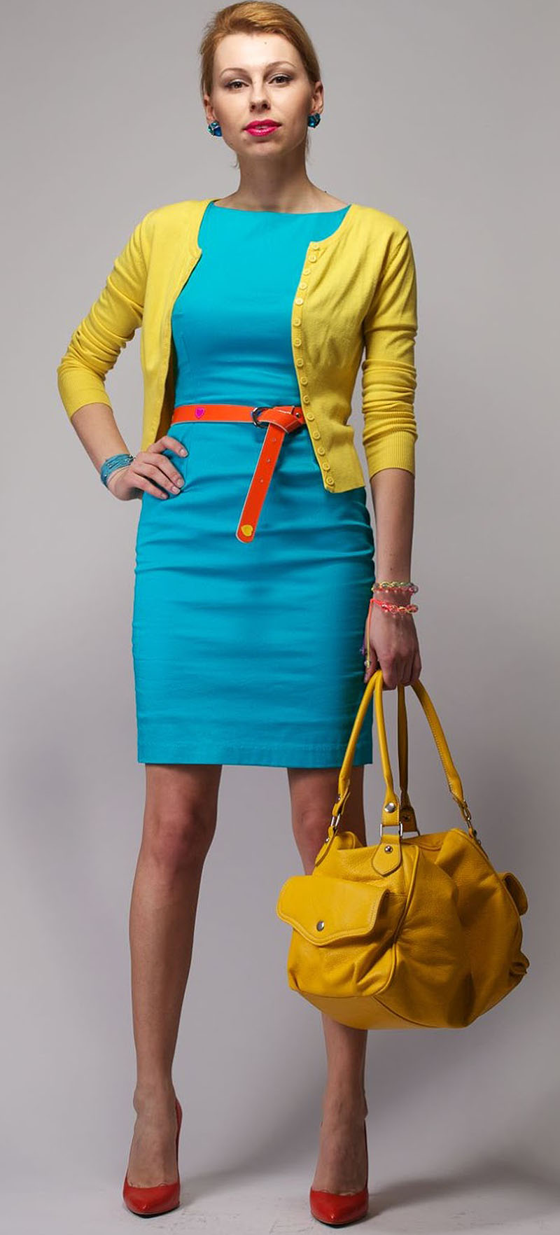 What Color Cardigan to Wear with Turquoise Dress