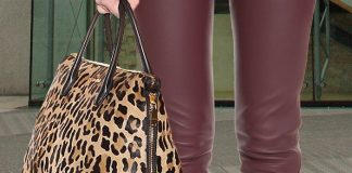 Miu Miu Leopard-printed pony hair tote bag