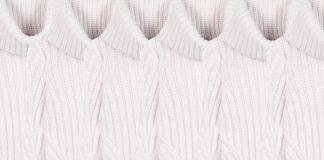 Alexander McQueen ivory white Wool-blend turtleneck sweater
