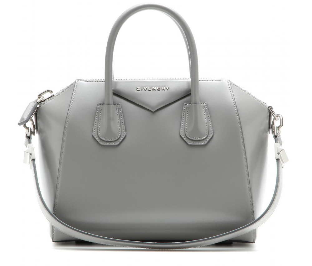 Givenchy Antigona pearl grey leather bag