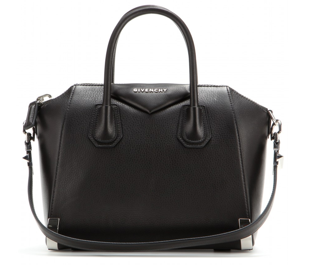 Givenchy Antigona small black textured leather tote bag