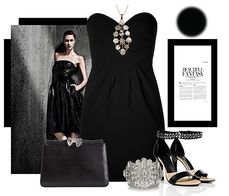 What color shoes to wear with your little black dress my for Jewelry accessories for black dress