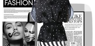 mixing prints black white polka dot black white stripes