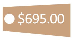 six hundred ninety-five dollar price tag