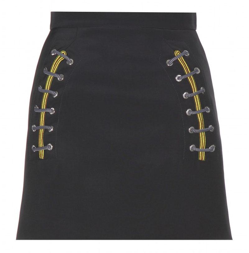 Balenciaga black mini skirt with lace design