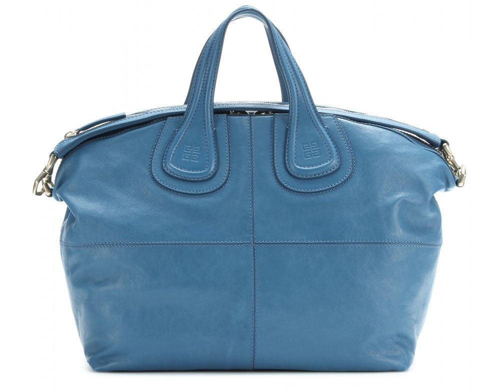 Blue Givenchy Nightingale Medium leather tote