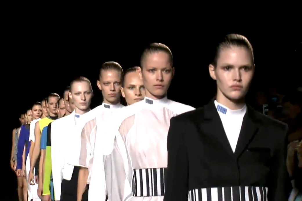 Mercedes Benz Fashion Week Alexander Wang Spring Summer 2015 Show screen capture 8