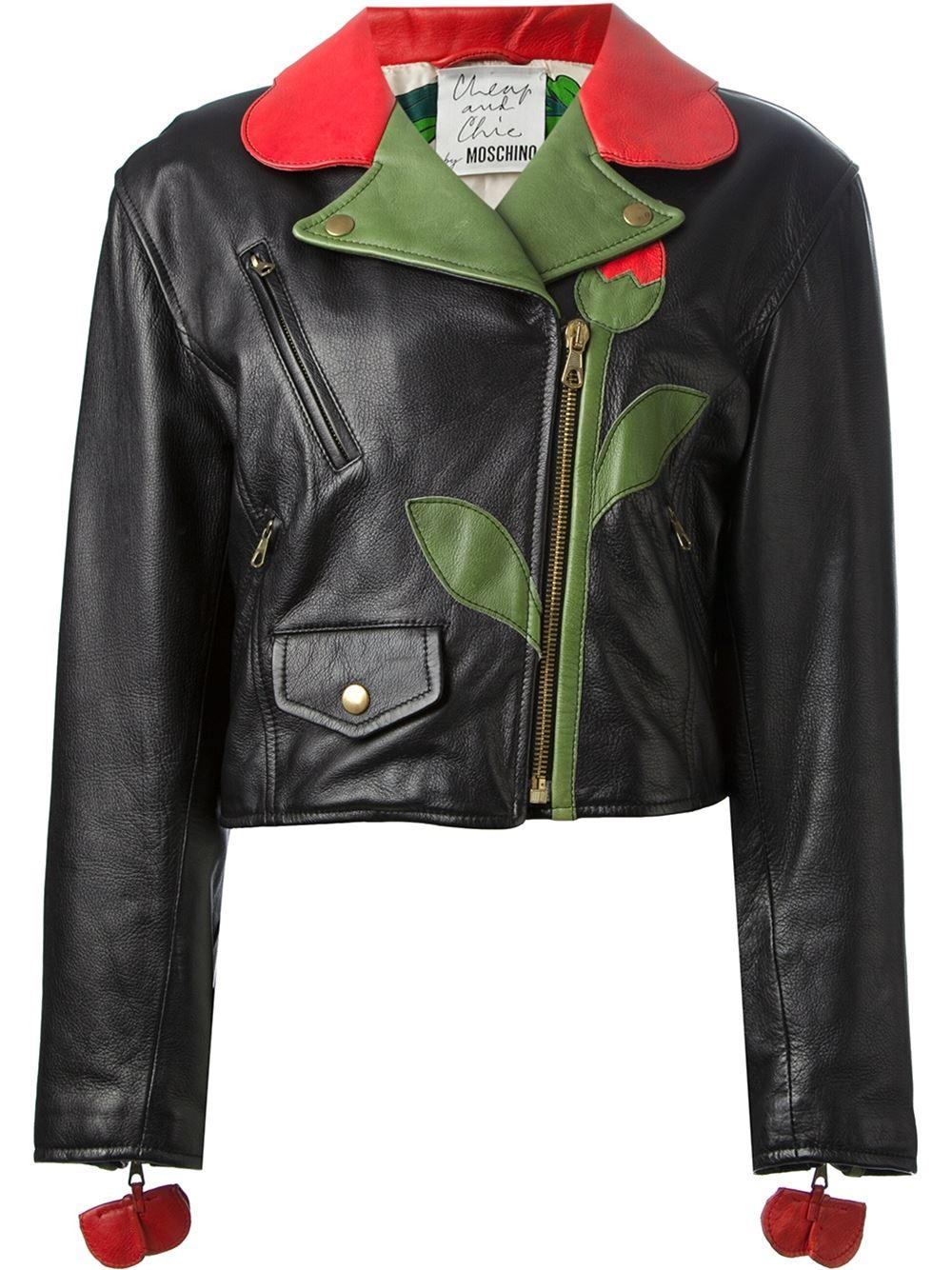Moschino Vintage flower biker jacket