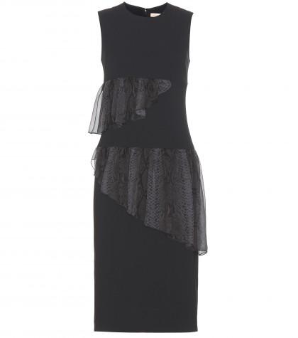 Christopher Kane Ruffled Crepe Dress