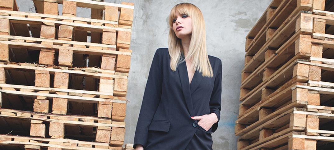 Polish beauty Dagmara Stremel wearing black SheInside blazer dress cropped