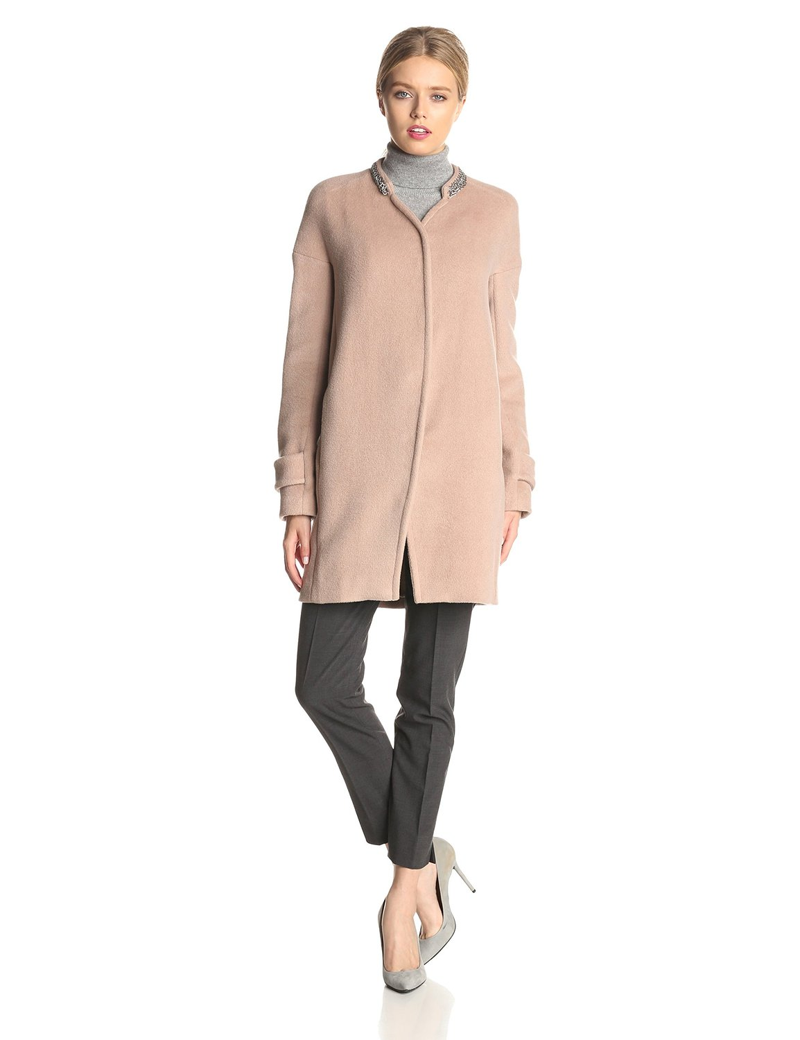 Rebecca Taylor Womens Melton Cocoon Coat