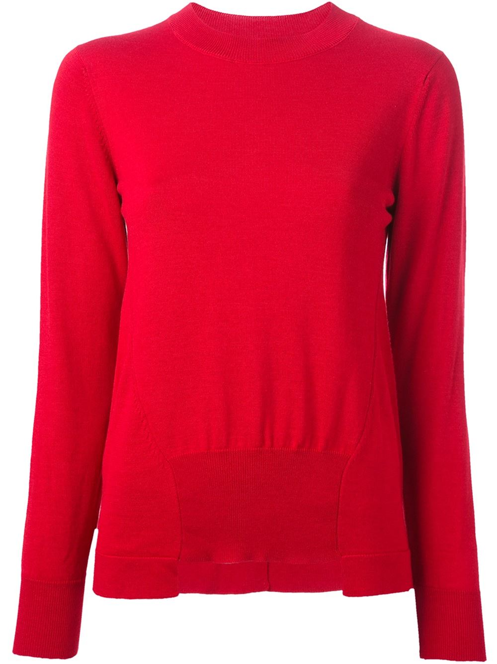 Red wool-silk blend Marni sweater